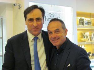 Antonello De Pierro e Antonio Giuliani alla presentazione della nuova collezione di Contini