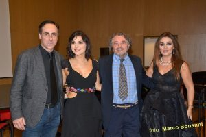 Antonello De Pierro, Pamela D'Amico, Giovanni Brusatori e Camilla Nata